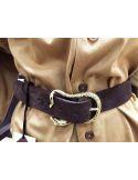 Laurence Bras Dark brown belt VIPER gold
