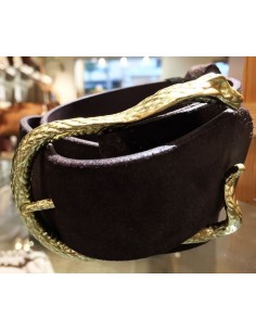 Laurence Bras Dark brown belt VIPER gold