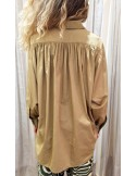 Laurence Bras Oversize loose shirt COSTAS cotton beige