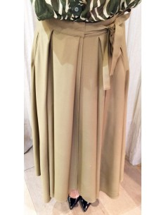 Laurence Bras Long loose skirt wool beige