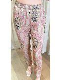 Laurence Bras loose pants CAKE viscose kasmir pink
