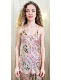 Laurence Bras Top BETTY viscose kasmir print pink