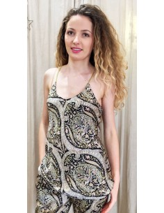 Laurence Bras Top BETTY viscose kasmir print black