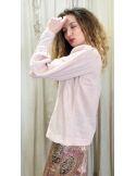 Laurence Bras  assymetrical Top MUGUET light pink