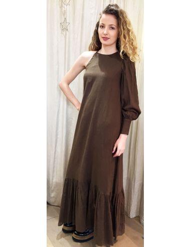 Laurence Bras Robe longue ROSE marron