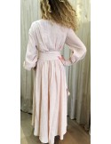 Laurence Bras Robe longue MARTINI rose