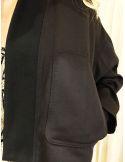 Laurence Bras Veste blouson japonisant MARTIAL lin&viscose noir