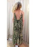 laurence Bras shirt CIGAR cotton & silk tile green