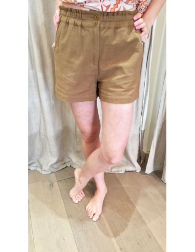 My Sunday Morning ALEXIS short light camel coton