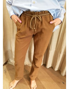 My Sunday Morning MARLOW pants light camel coton