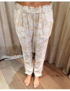 My Sunday Morning MORADA pants forida print viscose