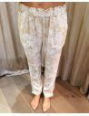 My Sunday Morning pantalon morada viscose imprimé florida