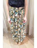 My Sunday Morning long skirt JUSTINE rain forest print viscose