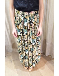 My Sunday Morning long skirt JUSTINE rain forest print viscose
