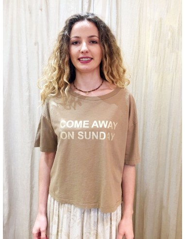 My Sunday Morning Tshirt MICKY coton beige