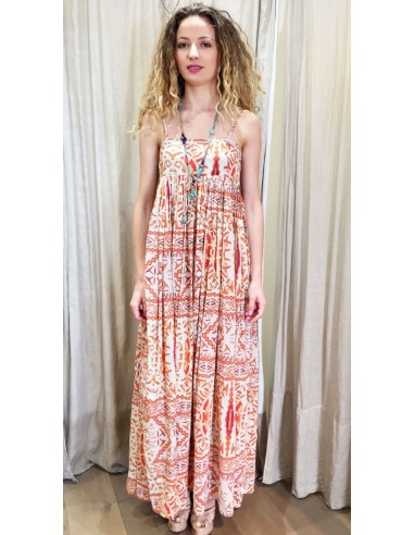 VDeVINSTER long dress JOHN DRESS coton orange print