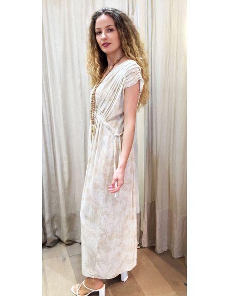 My Sunday Morning Robe longue princesse MARY viscose imprimé florida