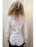 Laurence Bras chemise liquette droite PRIMARY coton imprimé sunbath stripes