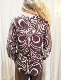 Laurence Bras chemise liquette droite  PRIMARY coton & soie tile brown (marron & ecru)