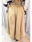 Laurence Bras jupe large coton beige