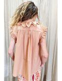 VDeVINSTER shirt EMBISA top coton terracota