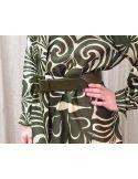 Laurence Bras ceinture cuir vert olive AIGLE large