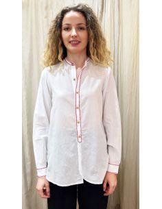 Laurence Bras chemise liquette droite PADDLE coton blanche