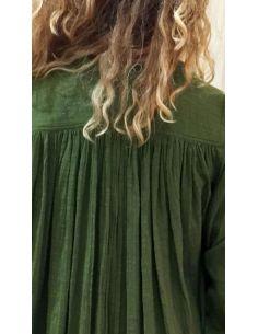Laurence Bras chemise CIGAR coton plissée vert