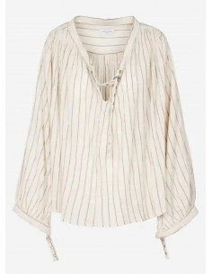Laurence Bras Shirt MALBORO cotton loose sunbath
