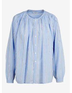 Laurence Bras chemise cigar coton plissée men stripes