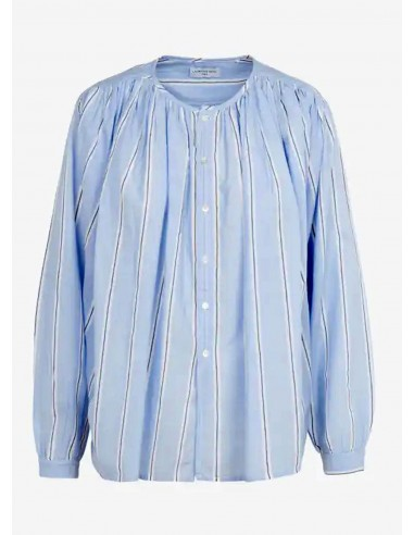 Laurence Bras Shirt CIGAR coton plissée menstripes