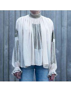 Laurence Bras shirt FLOW ecru embroidered