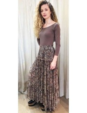 Laurence Bras Skirt TUNE viscose brown print