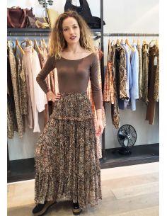 Laurence Bras Skirt TUNE  brown print