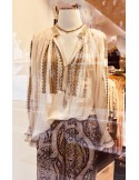 Laurence Bras chemise SHAHI ecru embroidered