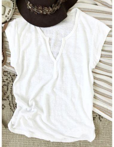 My Sunday Morning Tshirt BECA linen white