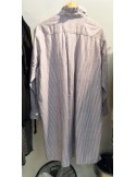 Laurence Bras robe ample ROAD coton purple stripes