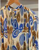 VDeVINSTER long dress IKAT DRESS coton grren & gold Ikat print