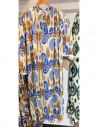 VDeVINSTER long dress IKAT DRESS coton blue & gold Ikat print