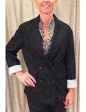 Laurence Bras veste oversize flanelle noire