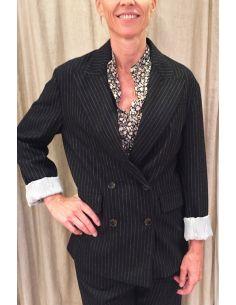 Laurence Bras veste monsieur oversize flanelle noire