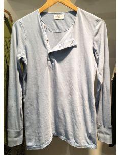 Laurence Bras Tshirt manches longues GRENADE coton bleu ou charcoal délavé
