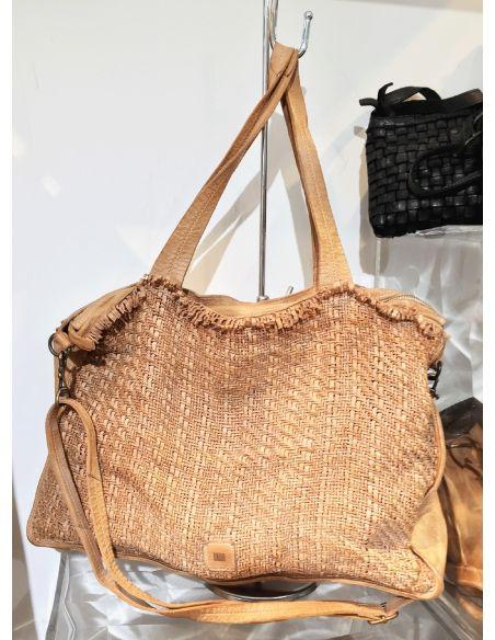 BIBA braided big bag Sterling STEL1L natural or cognac