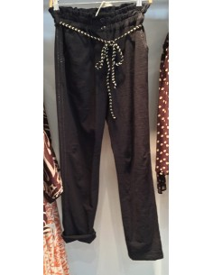 My Sunday Morning pantalon marlow noir coton