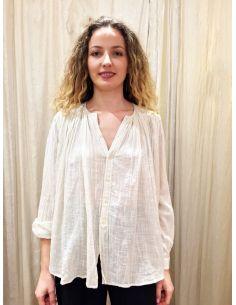 Laurence Bras Shirt CIGAR coton plissée blanche