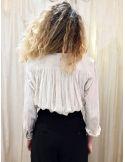 Laurence Bras shirt CIGAR coton plissée ecru