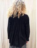 Laurence Bras shirt CIGAR coton plissée black