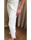 Laurence Bras Straight pants JALOUSIE coton white