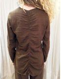 Laurence Bras chemise liquette droite PRIMARY coton uni marron