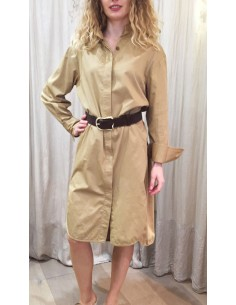 Laurence Bras Oversize loose DRESS PICASSO cotton beige